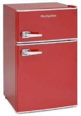 Montpellier Retro A+ Rated Under Worktop Static Fridge Freezer MAB2030R (Red)